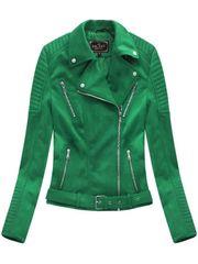 Amando Zelená semišová dámska bunda 6008