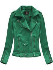 Amando Zelená semišová dámska bunda 6006