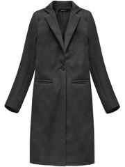 Amando Dámsky dlhý prechodný kabát 2995, tmavo sivý