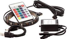 OPTY USB LED pás 2x 30cm, RGB, dálkový ovládač