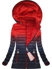 Amando Prechodná bunda ombre W616, červená/granátová