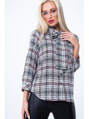 Amando Károvaná košeľa s viazaním MP26016, krémovo-čierna