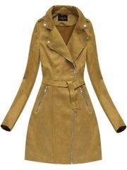 Amando Zamatový kabát 6004, horčicový