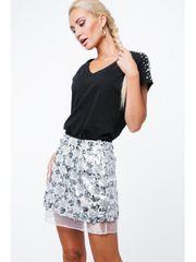 Amando Strieborná sukňa ZZ333