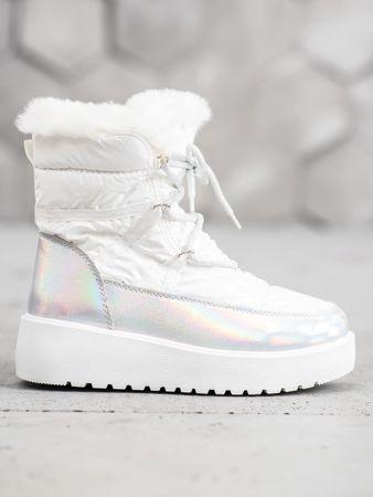 Śniegowce damskie 60515, biały, 40