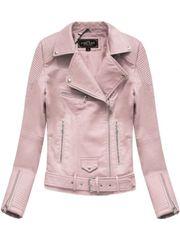 Amando Dámska koženková bunda 5377, ružová
