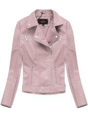 Amando Dámska koženková bunda 5378, ružová