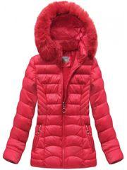 Amando Dámska červená zimná bunda B1036-30