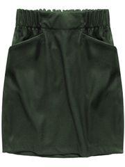 Amando Dámska sukňa z ekokože s vreckami 131ART khaki