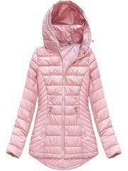 Amando Dámska prechodná bunda B1083, púdrovo ružová