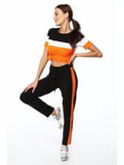 Amando Dámska oranžová športová súprava, tričko a tepláky 4253