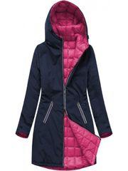 Amando Dámska obojstranná prechodná bunda 7700, tmavomodrá/ružová