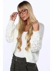 Amando Krátky sveter bez zapínania 0368 krémový