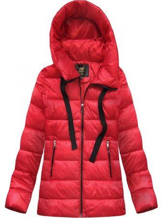 Amando Prešívaná dámska zimná bunda 7698 červená S