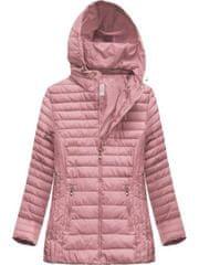 Amando Dámska prešívaná bunda s kapucňou XW262BIGX ružová