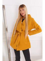 Amando Dámsky krátky prechodný kabát 17420, žltý