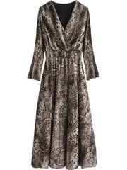 Amando Šaty s leopardím vzorom 481ART hnedé
