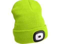 Extol Light Čepice s čelovkou, nabíjecí, USB, fluorescentní žlutá, univerzální velikost