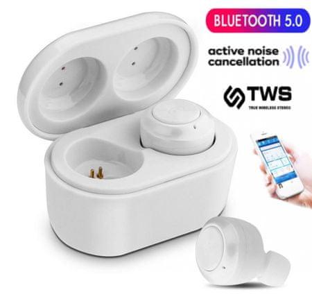 Platinet PM1085B brezžične slušalke s polnilno enoto, bele