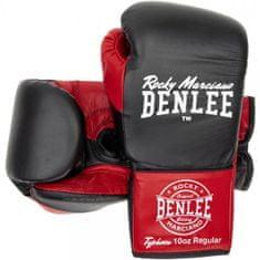 Boxerské šněrovací rukavice BENLEE Typhoon černočervené