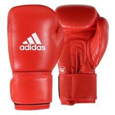 Katsudo Boxerské rukavice Adidas AIBA II červené - kůže