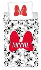Jerry Fabrics posteljnina Minnie, rdeča mašna