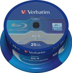 VERBATIM BD-R SL DataLife 25GB, 6x, spindle 25 ks (43837)