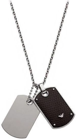 Emporio Armani Pánsky náhrdelník s príveskami EGS1601040