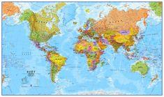 Excart Svět - nástěnná politická mapa 195 x 120 cm (česky)