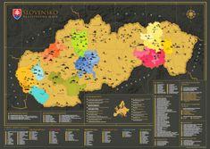 68 Travel Stírací mapa Slovenska 84 x 59 cm