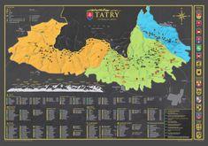 68 Travel Stírací mapa Vysokých Tater 84 x 60 cm