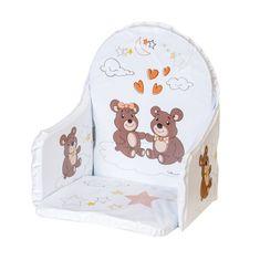 NEW BABY Vložka do dřevěných jídelních židliček typu New Baby Victory bílá medvídci