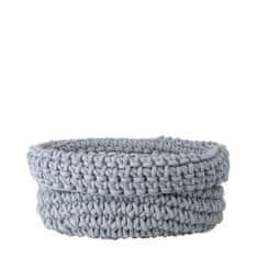 Blomus  Pletený bavlnený košík COBO sivý