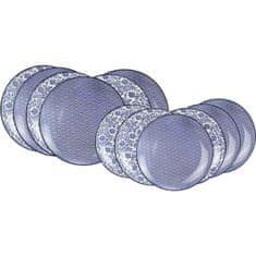 Ardtime sada 12 modrých porcelánových talířů
