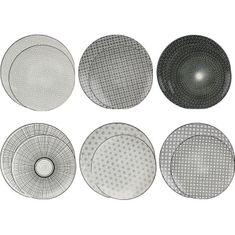 Ardtime sada 12 čenobílých talířů