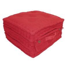 Cdiscount tří dílná rozkládací matrace 60 × 180 cm - červená
