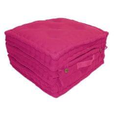 Cdiscount tří dílná rozkládací matrace 60 × 180 cm - růžová