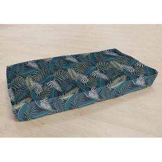 Cotton Wood potištěná podlahová matrace PARADISE modrá - 120 × 60 cm