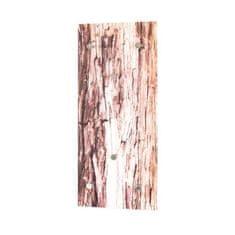 Cdiscount nástěnný věšák s UV tiskem - světlé dřevo