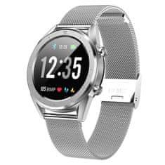 NEOGO SmartWatch DR28 smart hodinky, strieborné/kovové