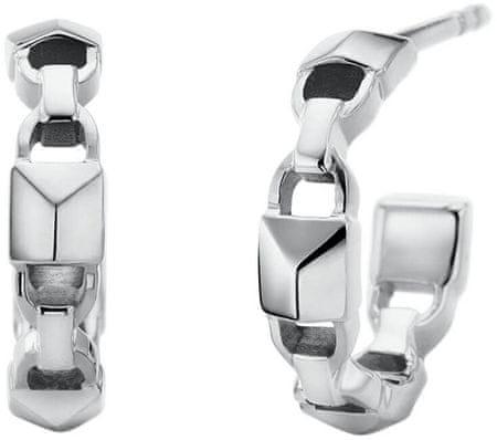 Michael Kors Okrogli srebrni uhani MKC1013AA040 srebro 925/1000