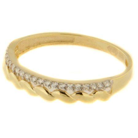 Amiatex Arany gyűrű 41418 + Nőin zokni Gatta Calzino Strech, 58, 1.35 G
