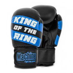 MACHINE Boxerské rukavice Machine King Of The Ring - černo/modré