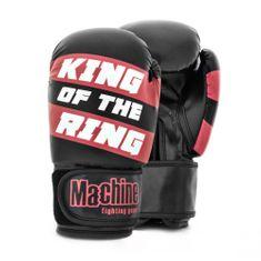MACHINE Boxerské rukavice Machine King Of The Ring - černo/červené