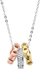 Michael Kors Ezüst nyaklánc háromszínű medálokkal MKC1142AN998 ezüst 925/1000