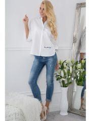 Amando Biela košeľa s nášivkami na chrbte BB20622