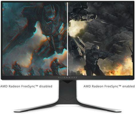 Dell Alienware Alienware AW2720HFA (210-AXVY) High contrast 1 000:1, czyste i głębokie kolory 27 cali AMD Free-Sync płynny ruch