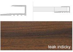 Effector Prechodové lišty ukončovacia A63, 1,6 cm x 270 cm - teak indický