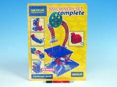 Merkur Stavebnice Machinery set Complete 80 modelů v krabici 27x36x8cm