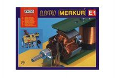 Merkur Stavebnice E1 elektřina, magnetizmus v krabici 36x28x8cm